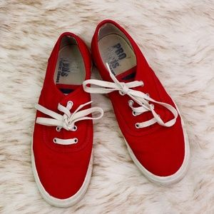 PRO KEDS: Vintage Red Sneakers